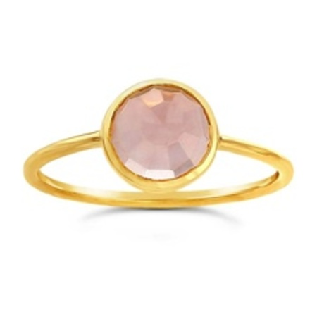 Ws House 14k Rose-cut Rose Quartz Ring