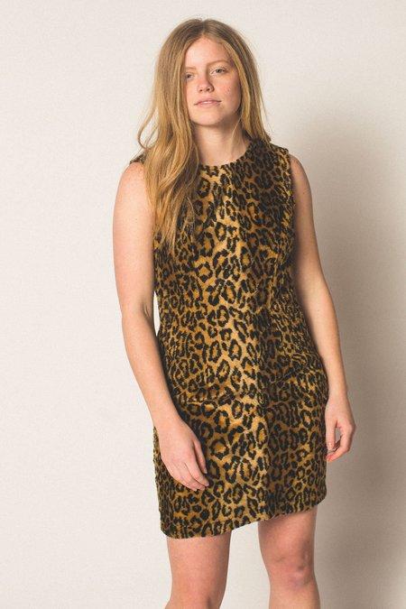 Preservation Faux Fur Dress - Cheetah Print