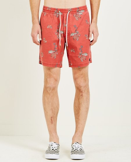 """Barney Cools AMPHIBIOUS 17"""" SHORT - RED VACATION"""