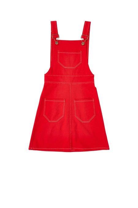 Lykke Wullf Anita Overall Dress - RED TWILL