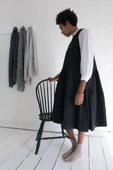 Karu Black Ruffle Dress