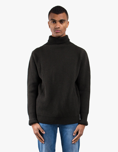 Andersen-Andersen Navy Turtleneck Symmetrical - Hunting Green