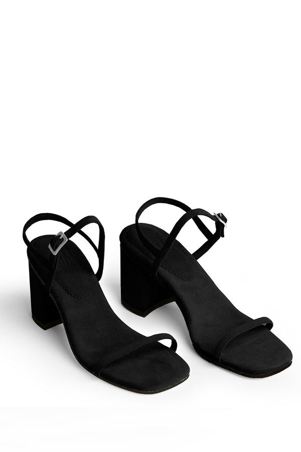 Rafa Black Simple Sandals