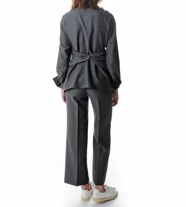 Ports 1961 Grey Blouse with Flap Detail