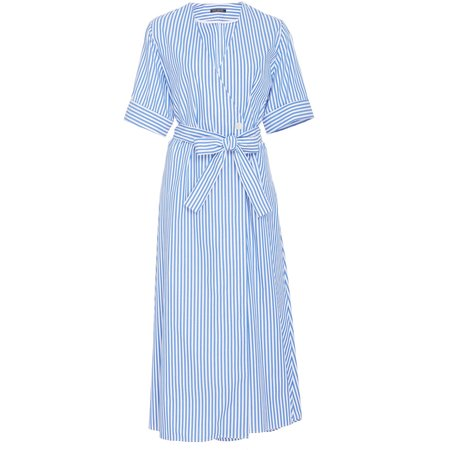 MDS Stripes Wrap Dress - Cobalt Stripe