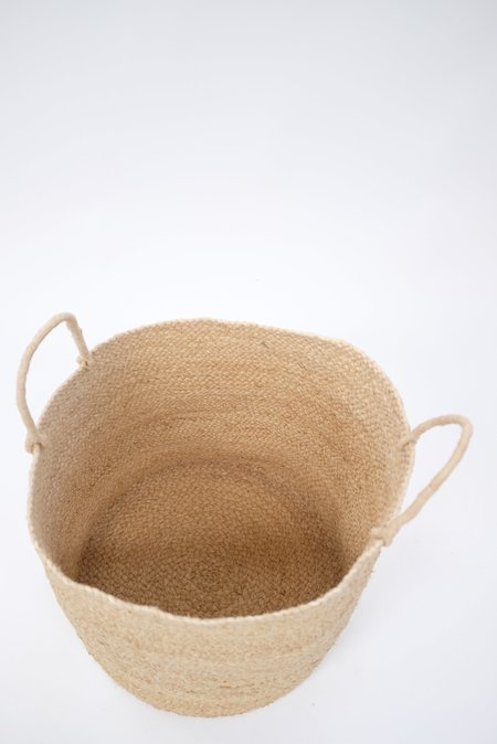 Indego Africa Large Braided Raffia Basket