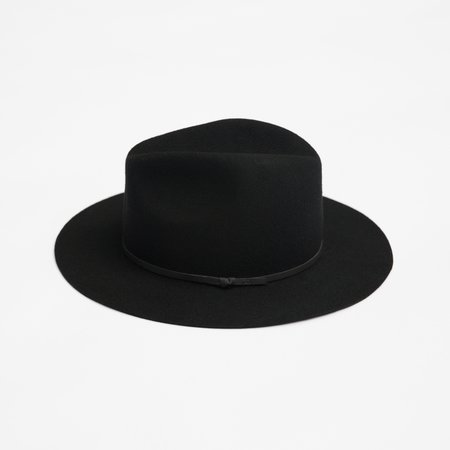 Unisex Yellow 108 Paul Fedora - Black