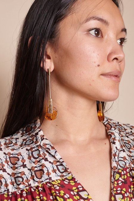 Rachel Comey Nix Earrings - Amber/Gold