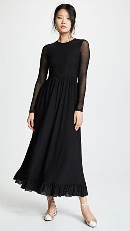 Ganni Dot Mesh Dress - Black