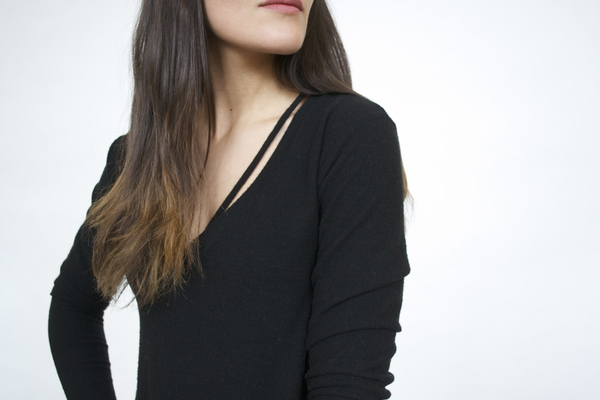 LNA Strappy Black Sweater