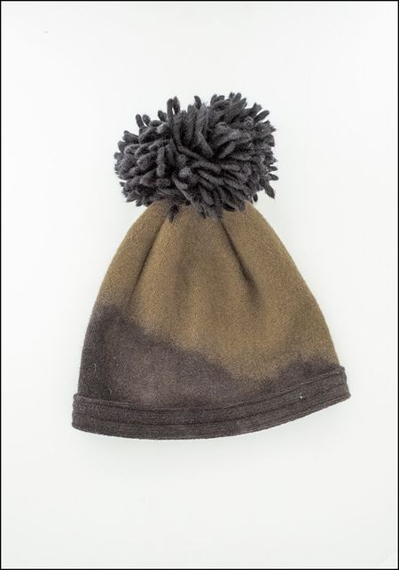 Claudia Schulz Hand Dyed Toque - ARMY GREEN