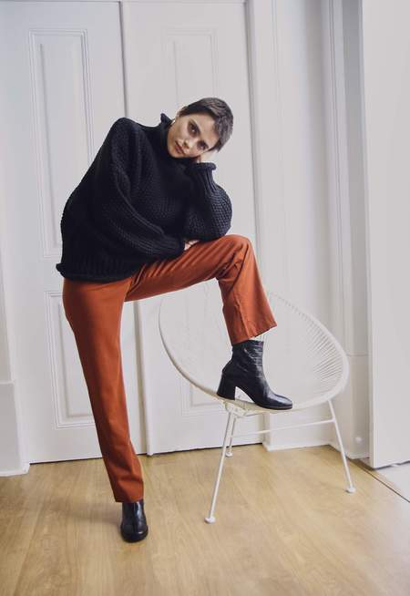 Bird On A Wire Vintage Marroon Tapered Trousers - brown