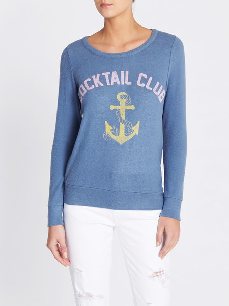Chaser LA Cocktail Club Sweatshirt - Baby Blue