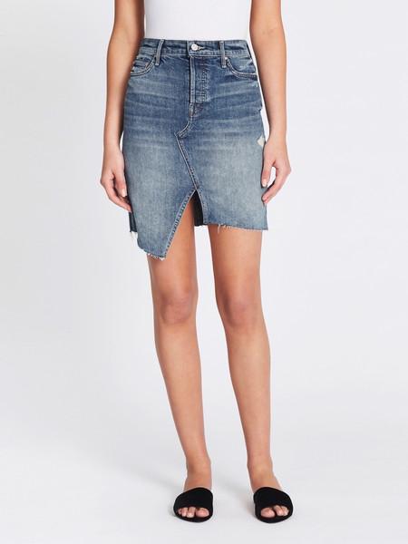 Mother Denim The Tomcat Slide Mini Fray Skirt - Better When It's Wrong