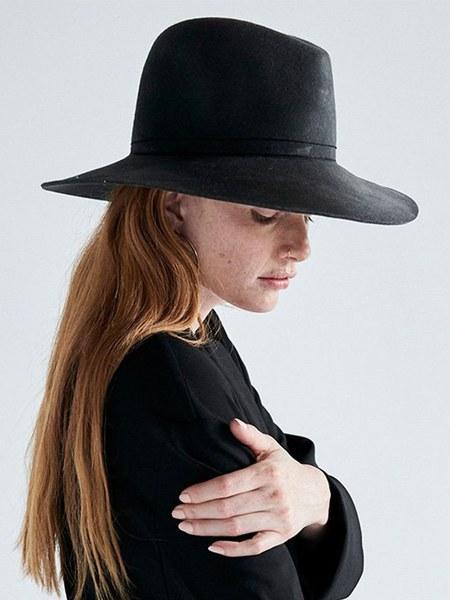 Janessa Leone Blake Hat - Dark Grey