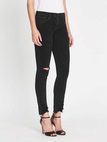 J Brand 811 Mid Rise Skinny Jean - Black