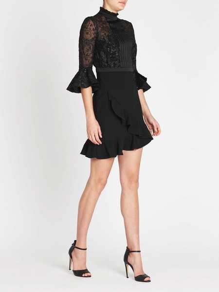 THREE FLOOR Dark Knight Dress - black