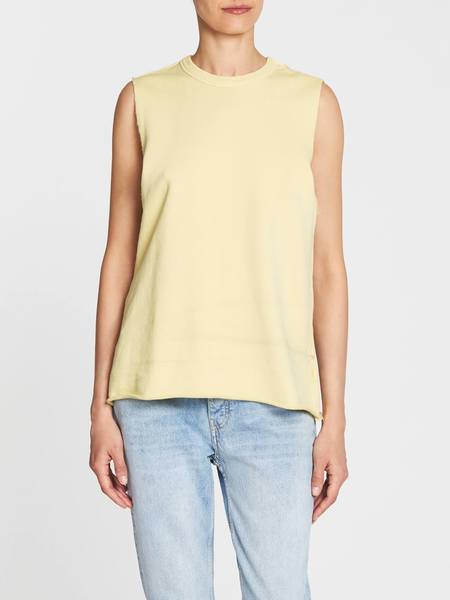 C & M Camilla And Marc Chianti Fleece Muscle Tank - Sherbet Yellow
