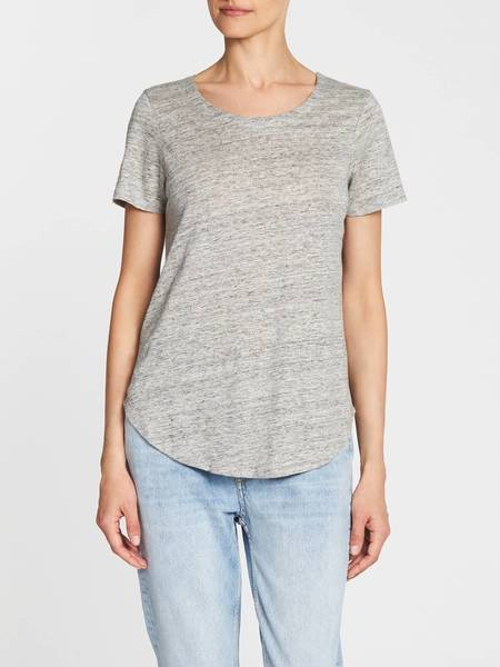Chaser LA Criss Cross Back Shirt Tail Tee - Grey