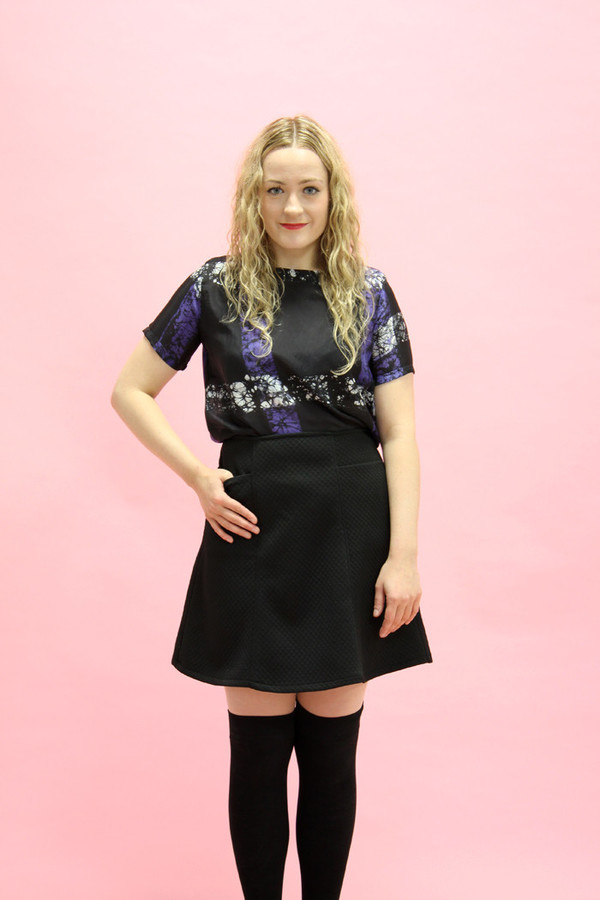 Sara Duke Black A-line Skirt