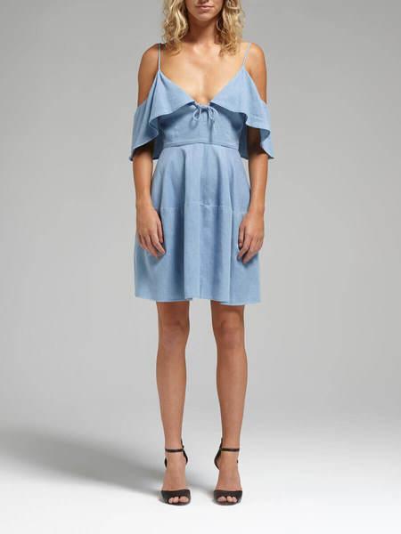 N / Nicholas Chambray Deep V Tie Dress