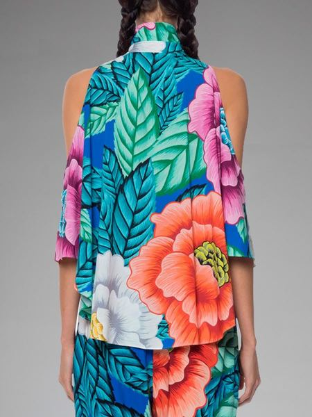 Mara Hoffman Open Shoulder Top - Floral