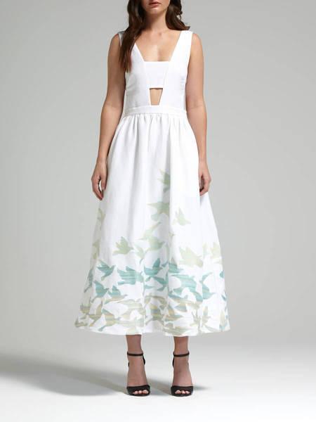 Mara Hoffman Birds Tie Back Dress