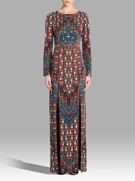 Mara Hoffman Rug Tencel Maxi Dress - Orange Multi
