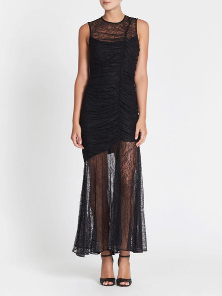 Camilla and Marc Plaza Lace Midi Dress - BLACK