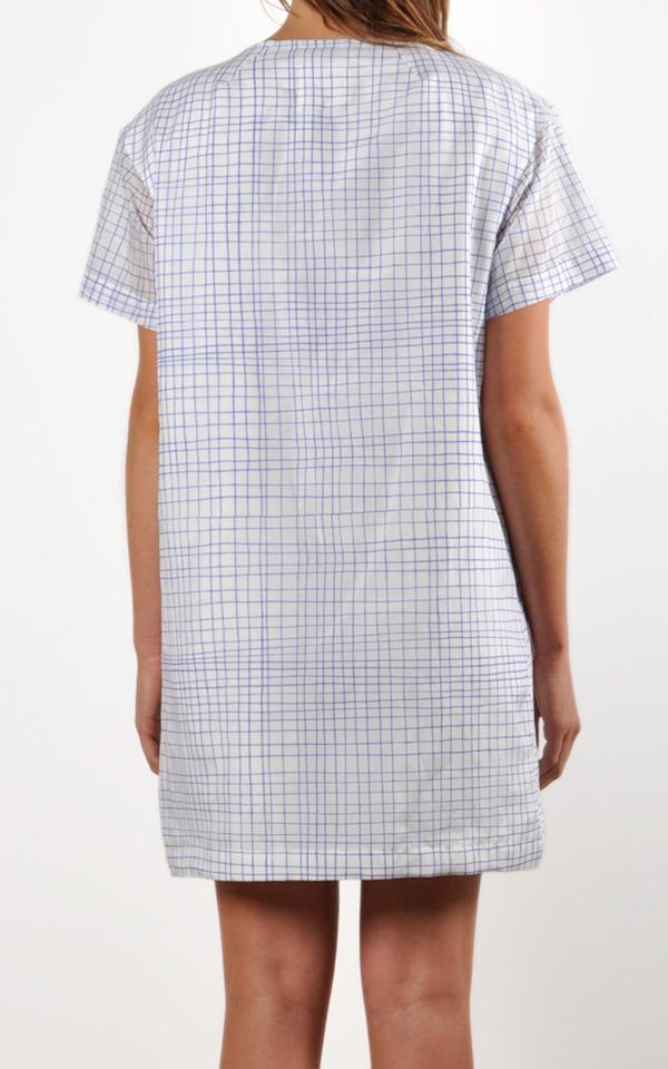 Waltz Drop Shoulder Printed T-shirt Dress