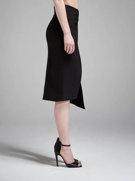 N / Nicholas Ponti Wrap Front Skirt - Black