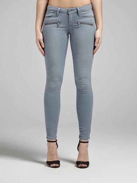 Paige Indio Zip Jean - Neutral Grey