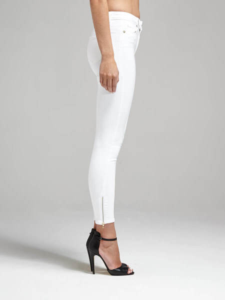 Paige Hoxton Ankle Zip Jean - Optic White