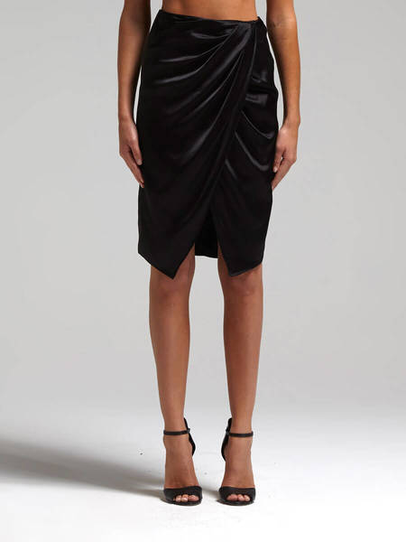 Camilla and Marc Mandolin Skirt - BLACK