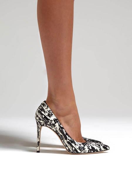 Pour la Victoire Celeste Heel -  Black/White