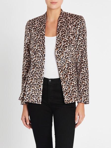 Rebecca Taylor Velveteen Jacket - Leopard Print