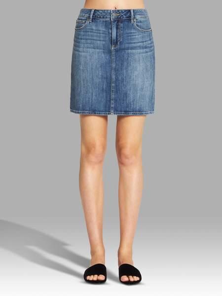 Paige Elaina Skirt - Mid Denim