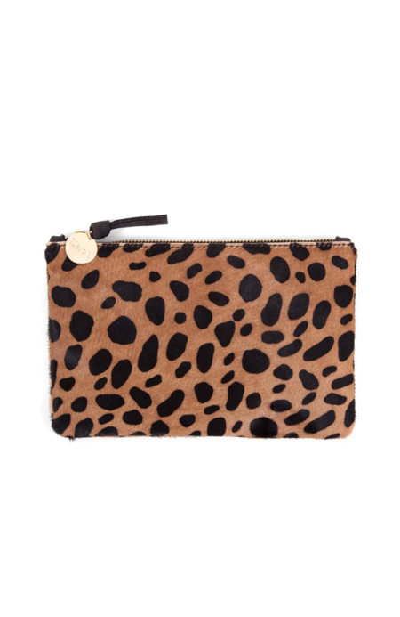 Clare V. Wallet Clutch - LEOPARD HAIR-ON