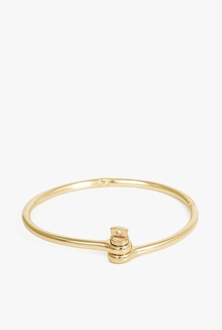Miansai Thin Reeve Cuff - Gold Plated