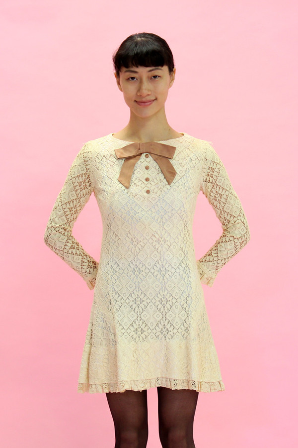 Steel Magnolias Vintage Cream Lace Dress