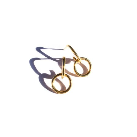 Flash Jewellery Hook Hoop - 22k Gold