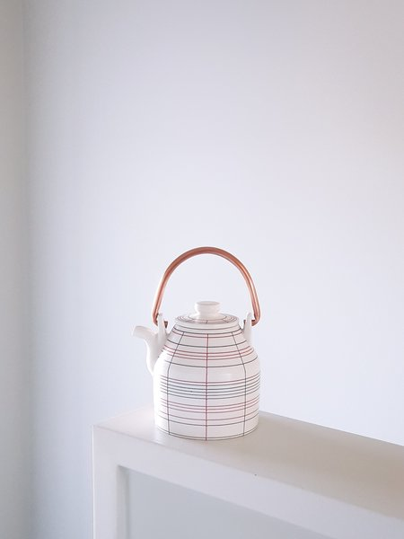 Jinho Jeong Inlay Copper Handle Teapot 2