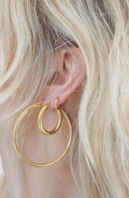 Flash Jewellery Mini Doozie Hoops - 22k Gold