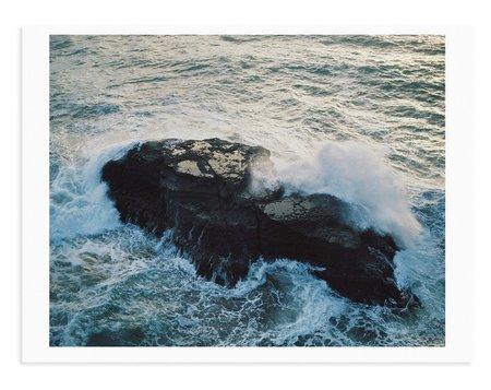 Adam Custins Piha Rocks Art Print