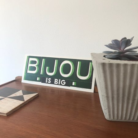"Hooksmith Press ""Bijou is big"" Print"