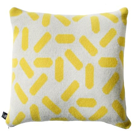 Giannina Capitani Large Tic tac cushion - grey/yellow