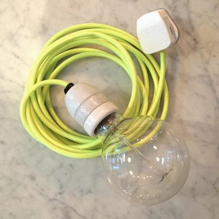 An Artful Life Bare bulb flex light - neon yellow