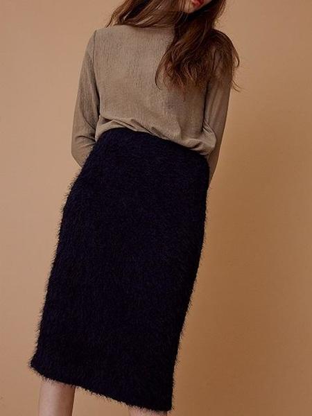 MOONTAN Midi Skirt - Navy