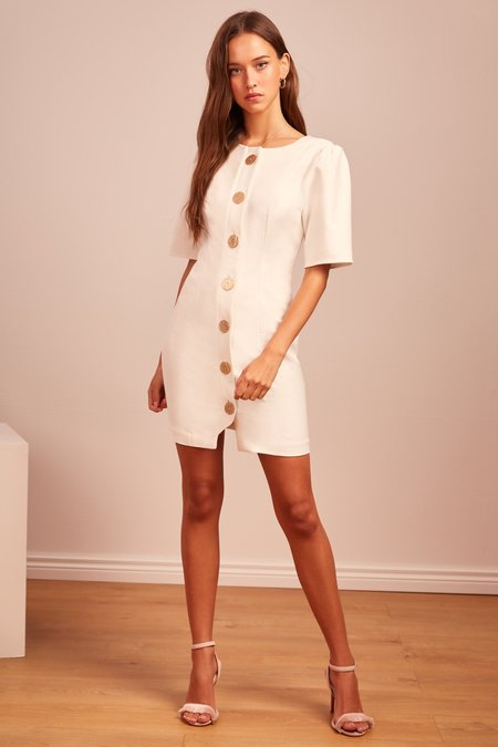 Finders Keepers Pompeii Mini Dress - Ivory