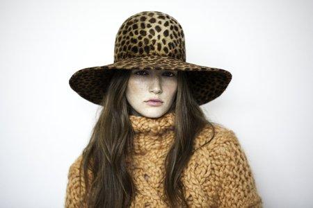Lola Hats Biba Hair Hat - Leopard